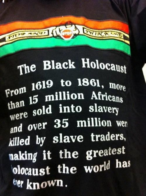 """Black Holocaust Oh and do you still believe that America's true foundations are of a """"TRUE"""" Christian nation?"""
