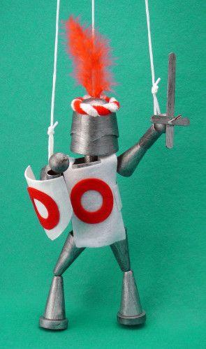 ::: Kids Craft Box - Crafty Kids - Knight Puppet Kit :::