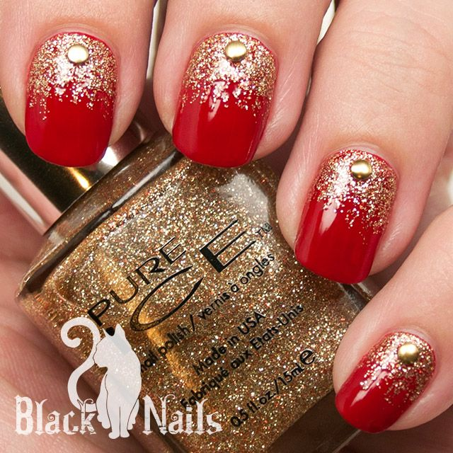 Glitter Of The Day Pure Ice Bare It All Festive Xmas Nail Art