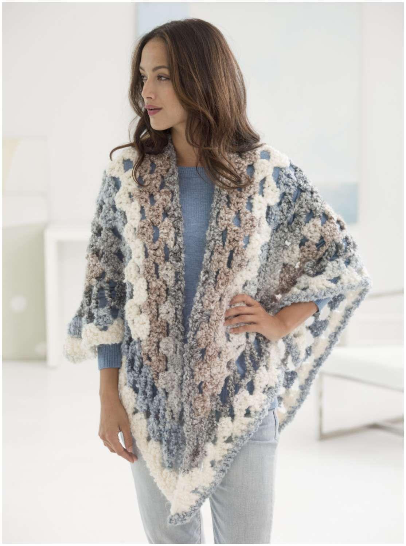 Retreat Crochet Shawl - The Free Pattern   Ponchos, Chal y Ganchillo