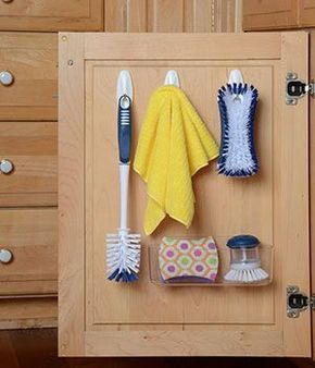 Store Cleaning Supplies On The Inside Of Cabinet Doors  Easy To Pleasing Cleaning Kitchen Cabinet Doors Review