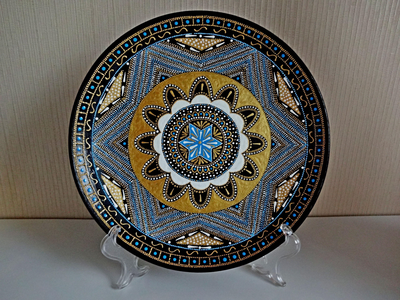 Decorative Plates For Hanging Mandala Plates Majolica Plates Colorful Plates Ceramic Plates Paints Large Decorative Hand Painted Plates Decorative Plates Hand Painted Plates Painted Plates