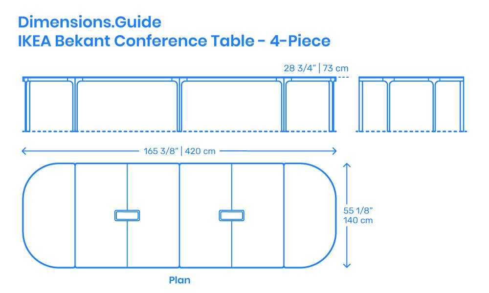 The 4 Piece Ikea Bekant Conference Table Is A 4 Piece Table That