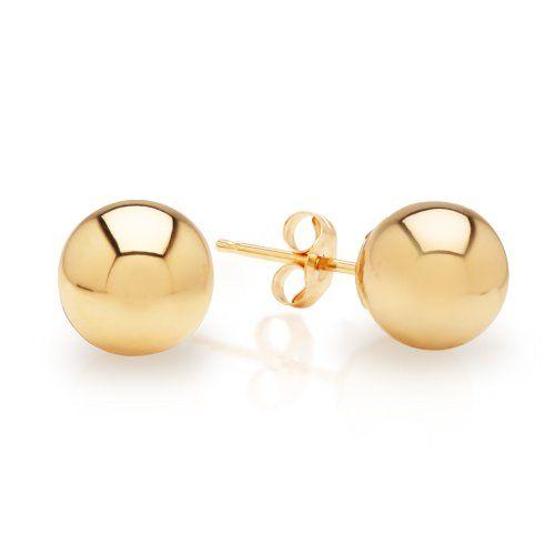 18k White Gold 7mm Ball Stud Earrings