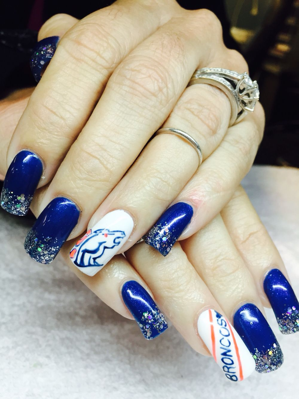 Denver Broncos #nails #nailart | Nails I\'ve done | Pinterest ...