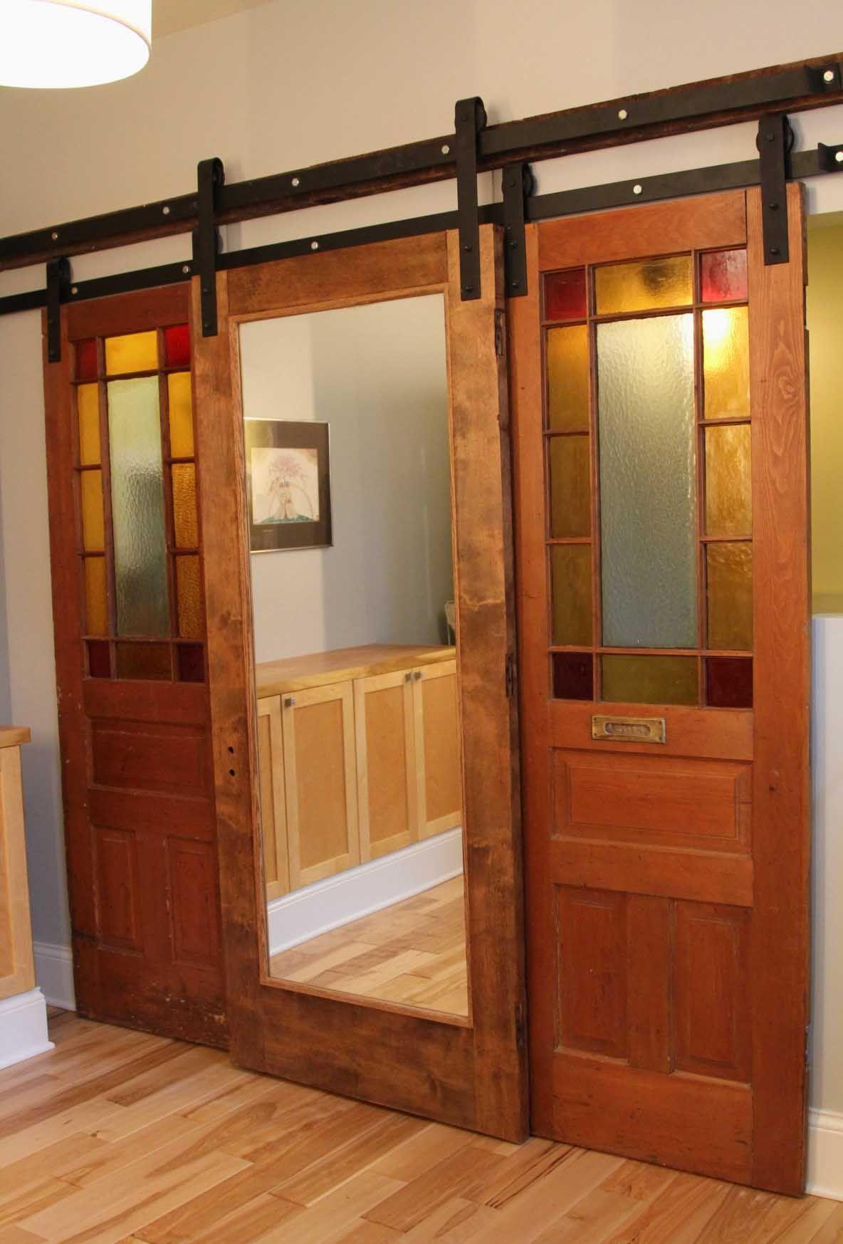 20 Must See Closet Door Ideas With Pictures Archlux Net Barn Style Doors Double Sliding Barn Doors Barn Doors Sliding
