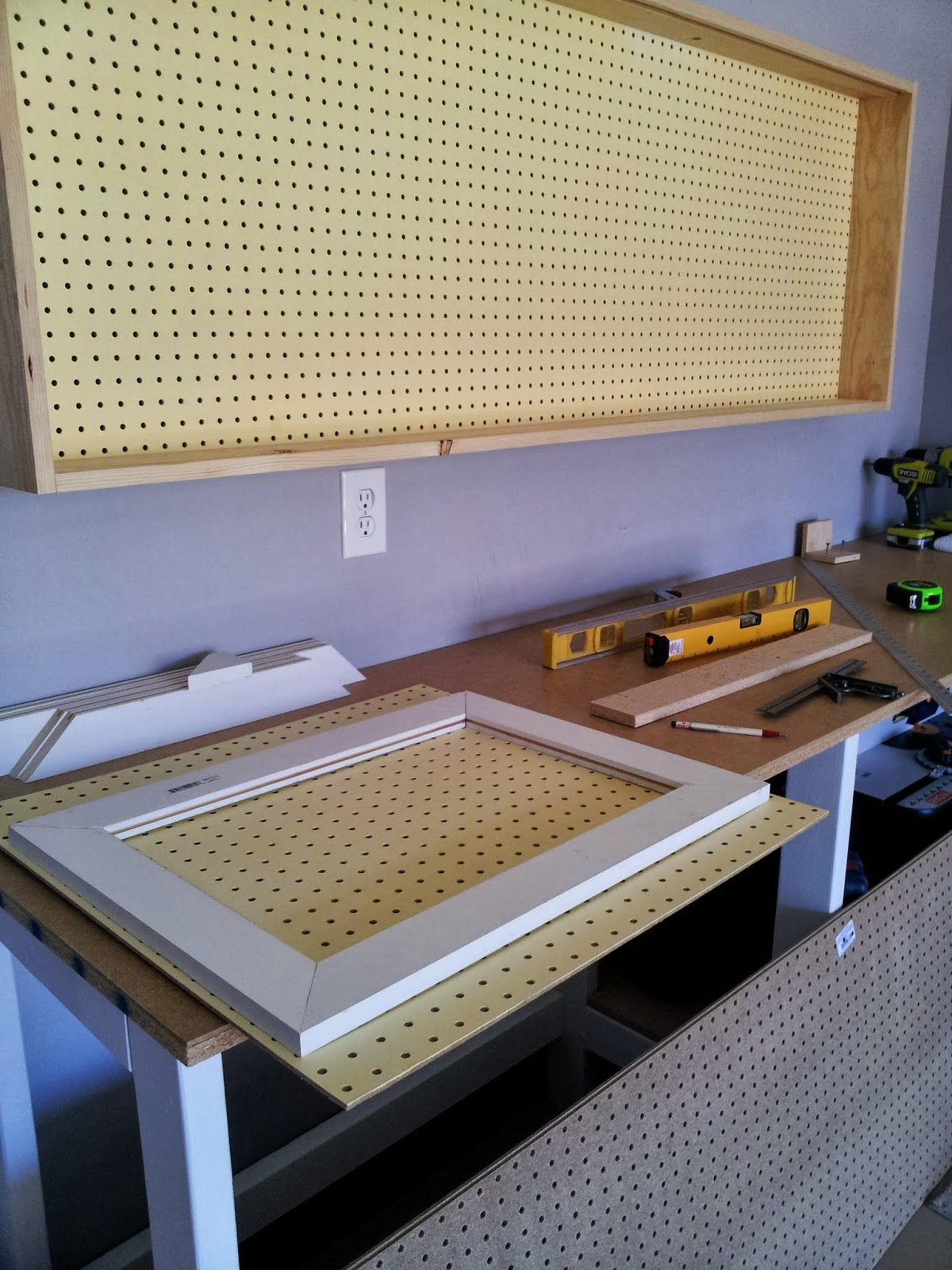 building sliding doors for the pegboard tool