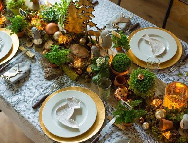 Table de Noël : nos idées de décoration en vidéos et photos #centredetablenoelbois