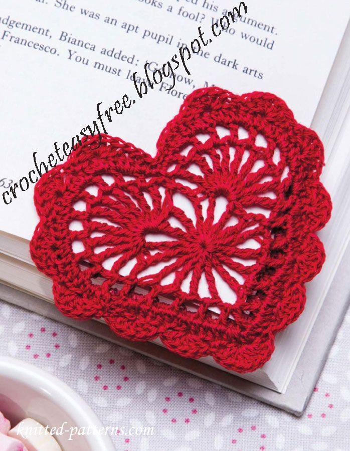 Crochet Easy: Heart bookmark crochet easy