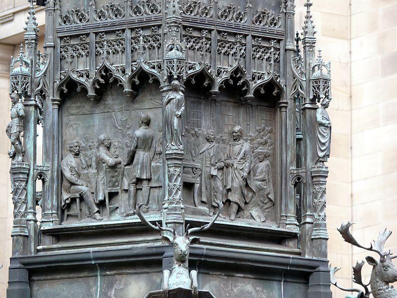 File:Duke of Buccleuch Statue Pedestal detail.JPG