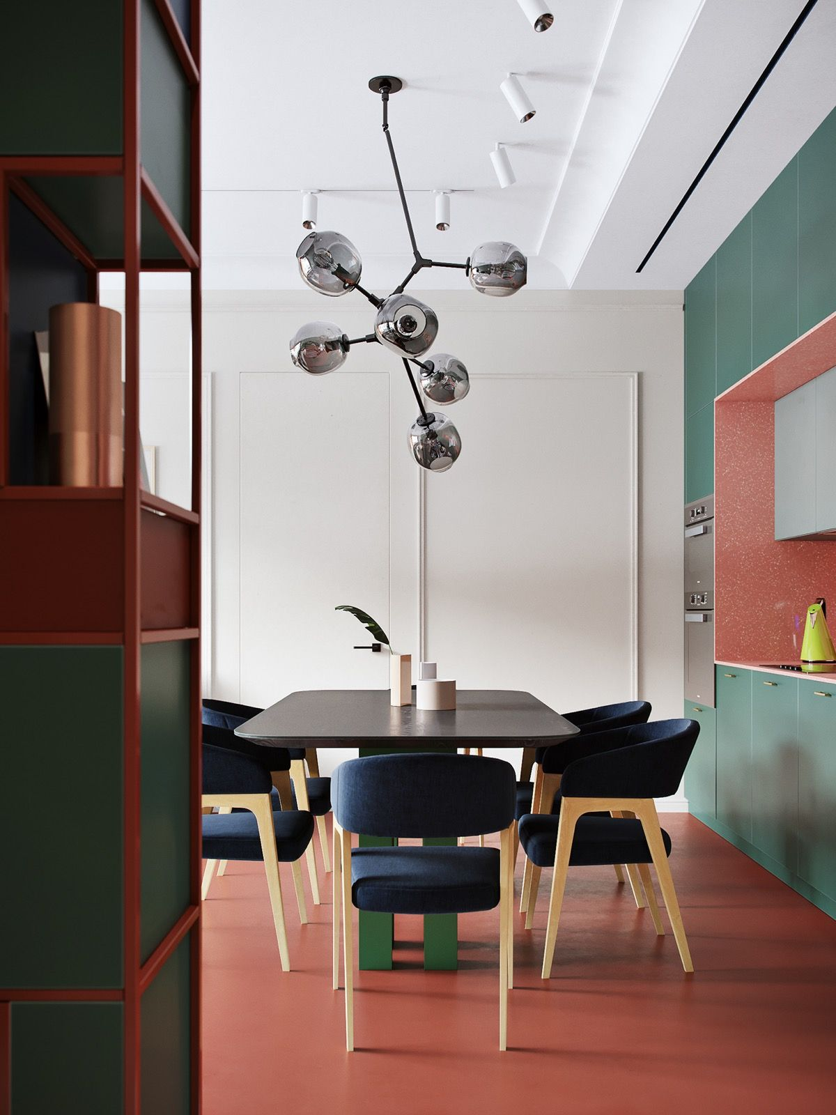 Art Lovers Red Blue And Green Home Decor Scheme
