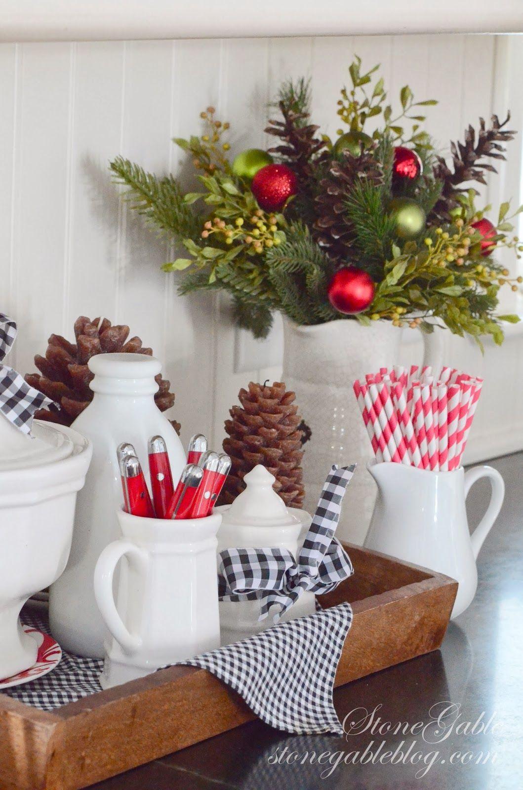 A FARMHOUSE CHRISTMAS Farmhouse Christmas KitchenChristmas Kitchen DecorationsFarmhouse