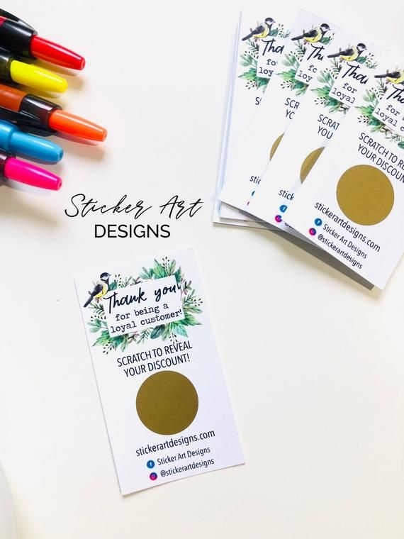 Promotional Materials, Thank You Scratch Off Cards, Custom Thank You Cards, Small Business Cards, Sc #businessthankyoucards