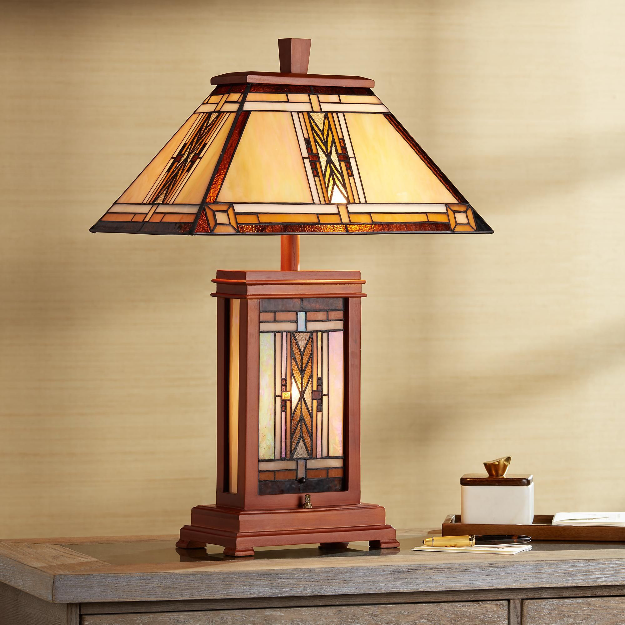 Desk Lamps Walnut Mission Collection Table Lamp Tiffany Style Table Lamps Lamp Table Lamp