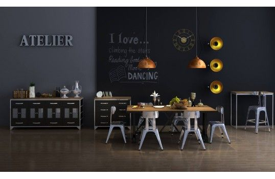 Salle A Manger Diy Live Edge Wood Dining Room Table With Steel Legs Uhhhhm Love This So Mod Diy Dining Wood Dining Room Wood Dining Room Table