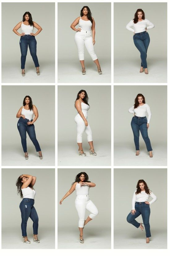 Plus Size Jeans, Stripes, and Sequins - Alexa Webb