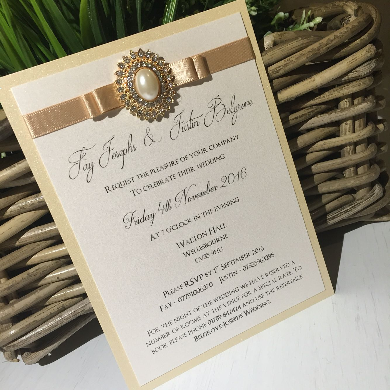 A glamorouschic Evening invitation to match the