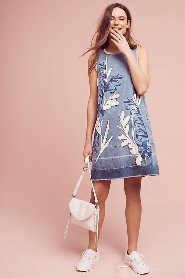Denim Leaves Shift Dress | Paletas de colores, Paletas y De colores