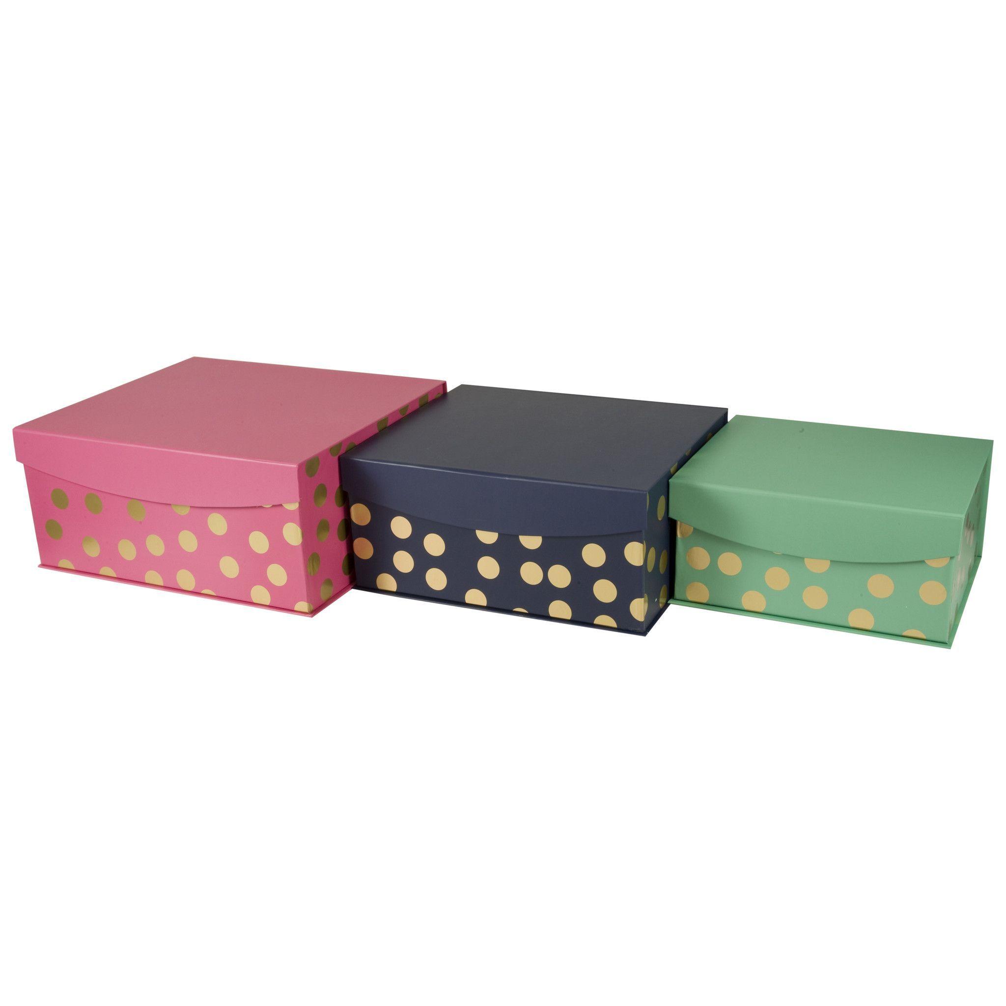 Decorative Nested Flip Top Storage Boxes Nested (Set Of 3)