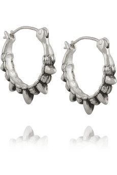 Pamela Love Tribal Spike silver earrings    NET-A-PORTER