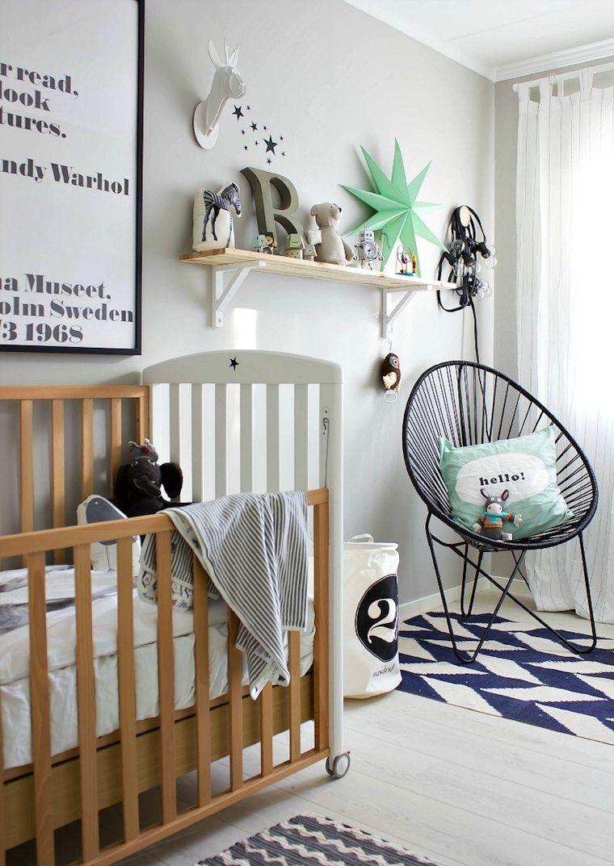 Un dormitorio de beb alejado del clich little love pinterest - Baby jungenzimmer ...