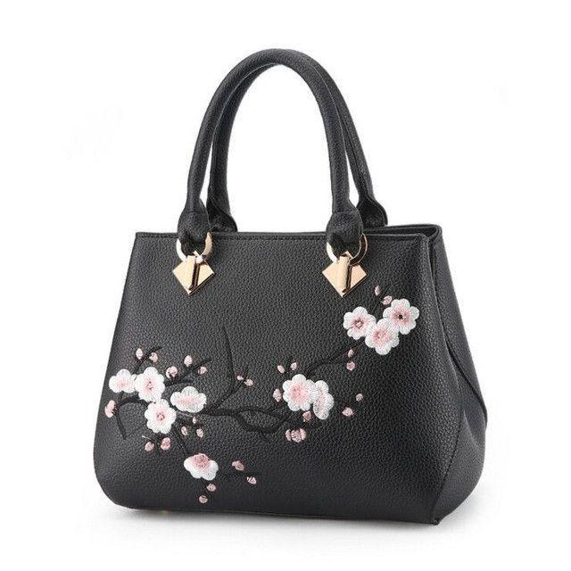 33ea071acb7 FOROCH Women Bag Zipper Embroidery Handbag Fashion Flower Ladies ...
