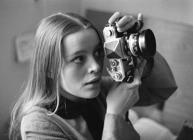 The stunning Czech actress Magdaléna Vášáryová captured in three mesmerizing black and white portraits. Circa 1960-70s.