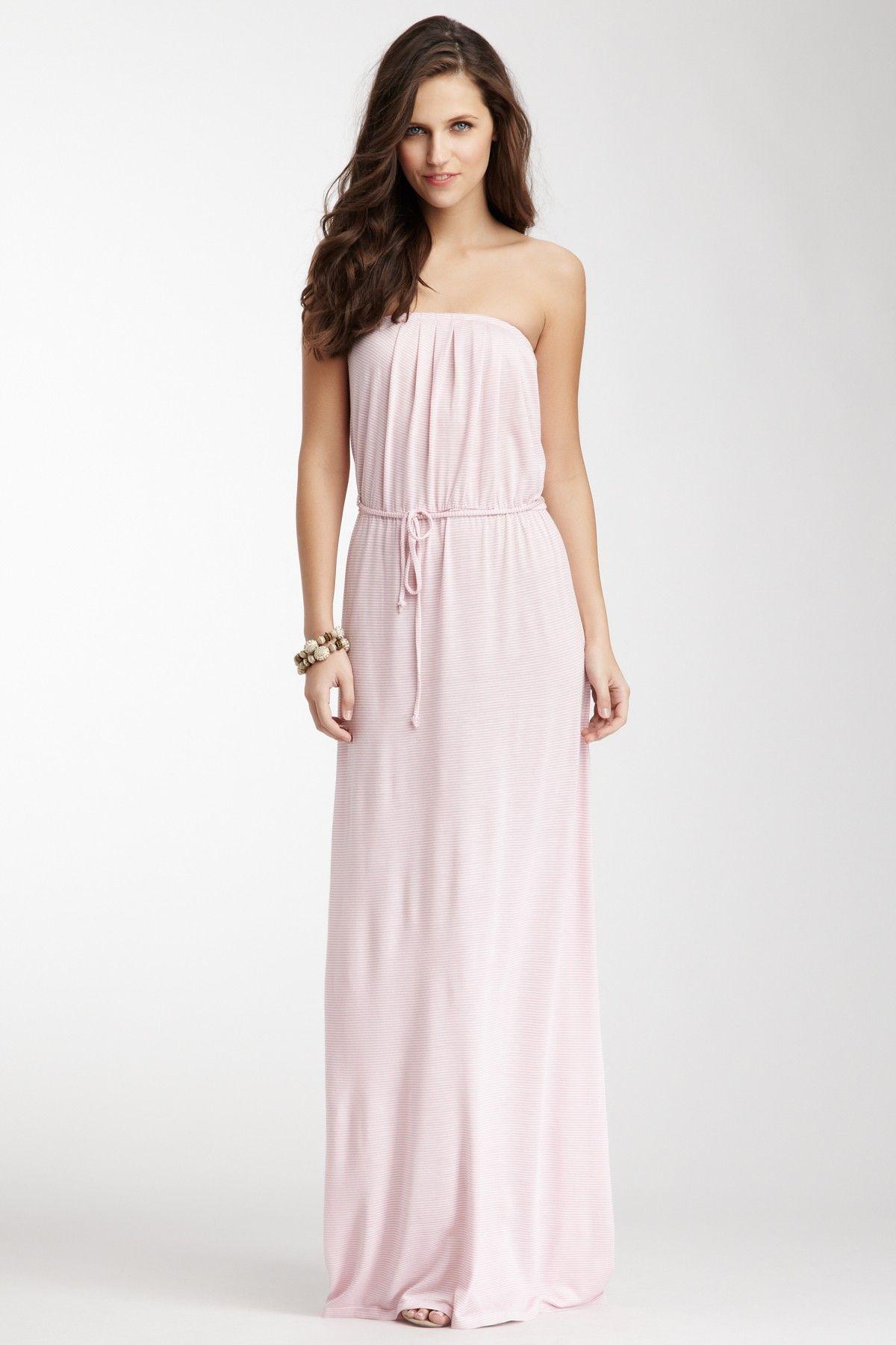 Strapless stripe maxi dress dresses pinterest striped maxi