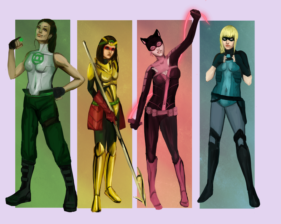 Chicks Of Prey Or Maybe Young Birds Of Prey Ionno Based On Earth 16 This Is The Group That Olivia Queen Formed After Quit Prey Birds Of Prey Dc Characters