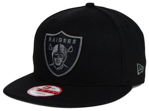 16a01f31e Oakland Raiders New Era NFL Black Gray 9FIFTY Snapback Cap Hats ...
