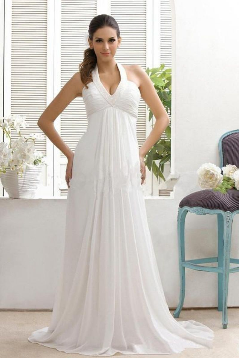 Luxury halter empire waist wedding dresses wedding dresses
