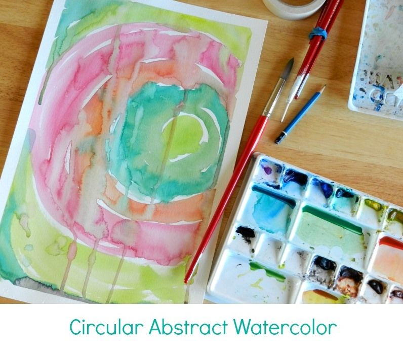 Grow Creative Circular Abstract Watercolor Painting Tutorial