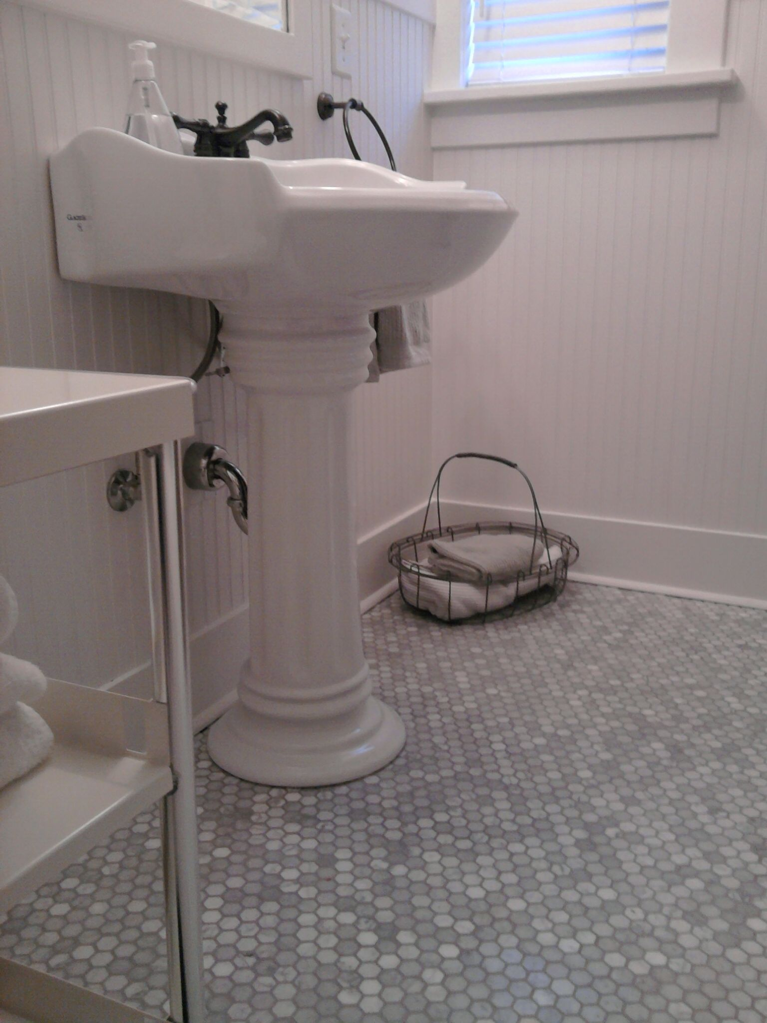 Hex Bathroom Tile   Marble Hex Tile.   Old School Renovations, Inc.