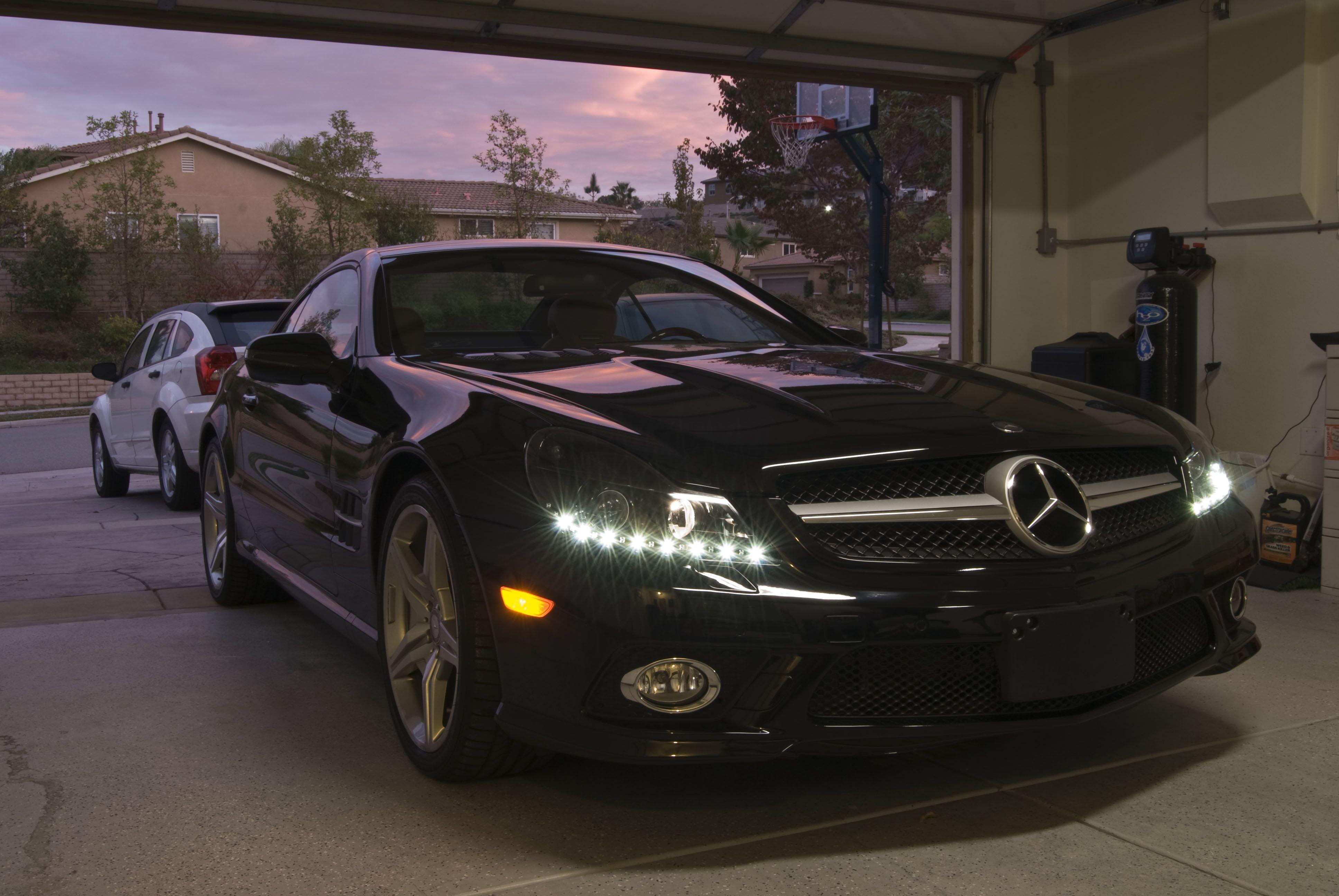 Mercedes sl550 custom led headlights mercedes benz for Mercedes benz aftermarket headlights