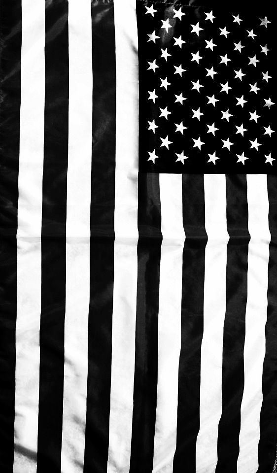 Black White Patriotic Wallpaper Red And White Flag
