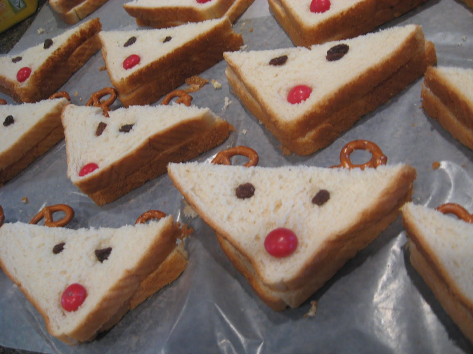 Toddler Christmas Party Ideas Part - 37: Next To Heaven: A Toddler Christmas Party, Reindeer Sandwiches