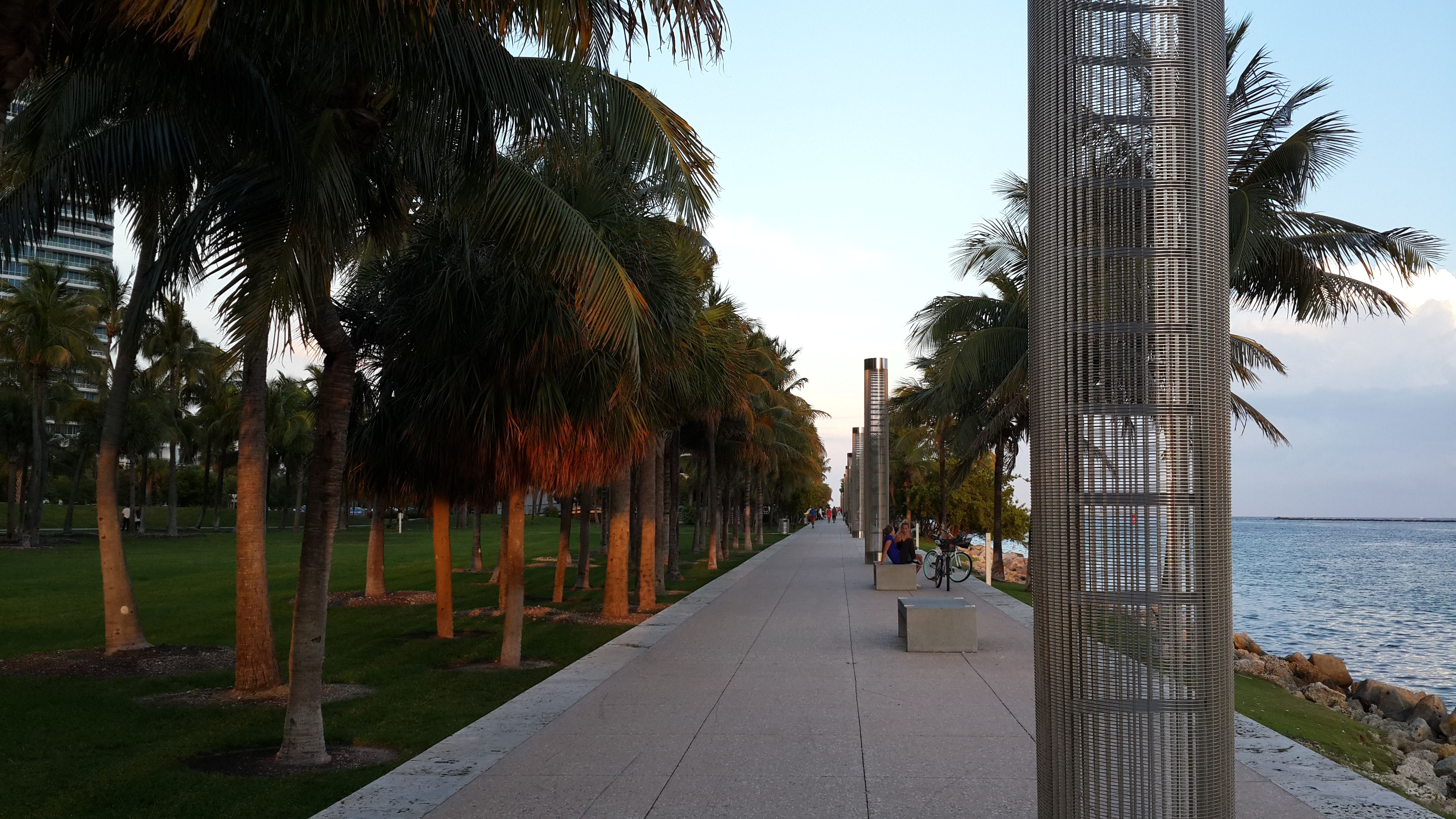 South Pointe Park Outdoor, Park, Sidewalk
