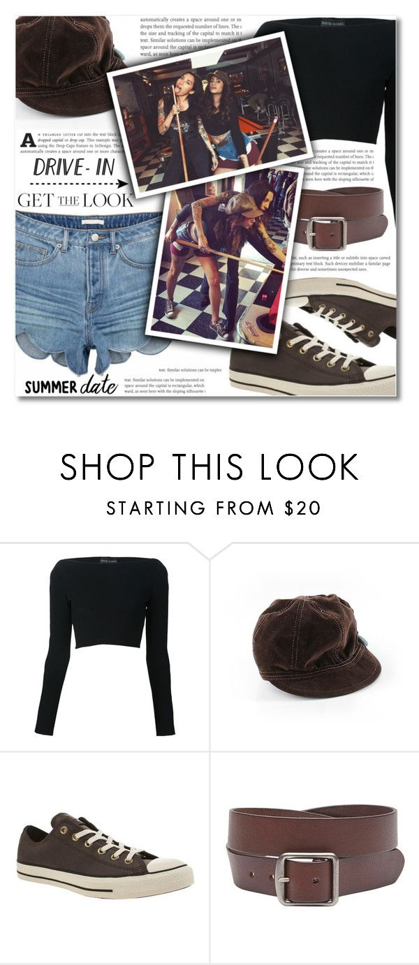 """""""Summer Date: The Drive-In"""" by dolly-valkyrie ❤ liked on Polyvore featuring David Koma, Goorin, Converse, Witchery, DateNight, drivein and summerdate"""