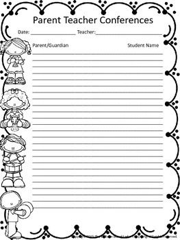 Parent Teacher Conference Sign In Sheets FREEBIE | Parent/Teacher ...