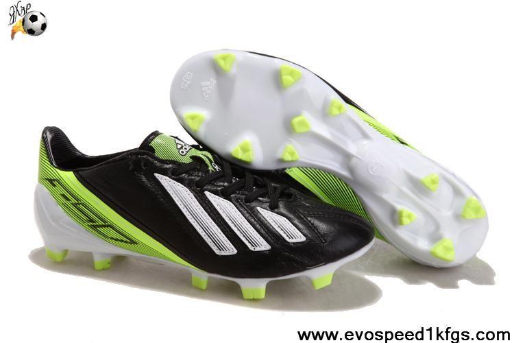 Sale Cheap Black Green White Adidas F50 adizero miCoach Soccer Boots Store 1c6ff33cac