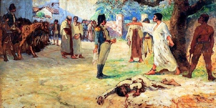 Na Geral Ramon Alvarado: 12 de junho, dia do sacrifício do herói espírito-santense da Revolução Pernambucana de 1817, Domingos José Martins