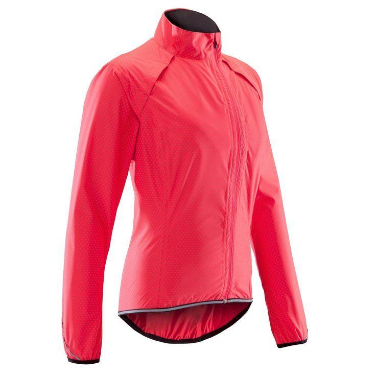 best website 170ec f23d8 Decathlon Damen Fahrrad-Regenjacke Rennrad 500 Damen rosa ...