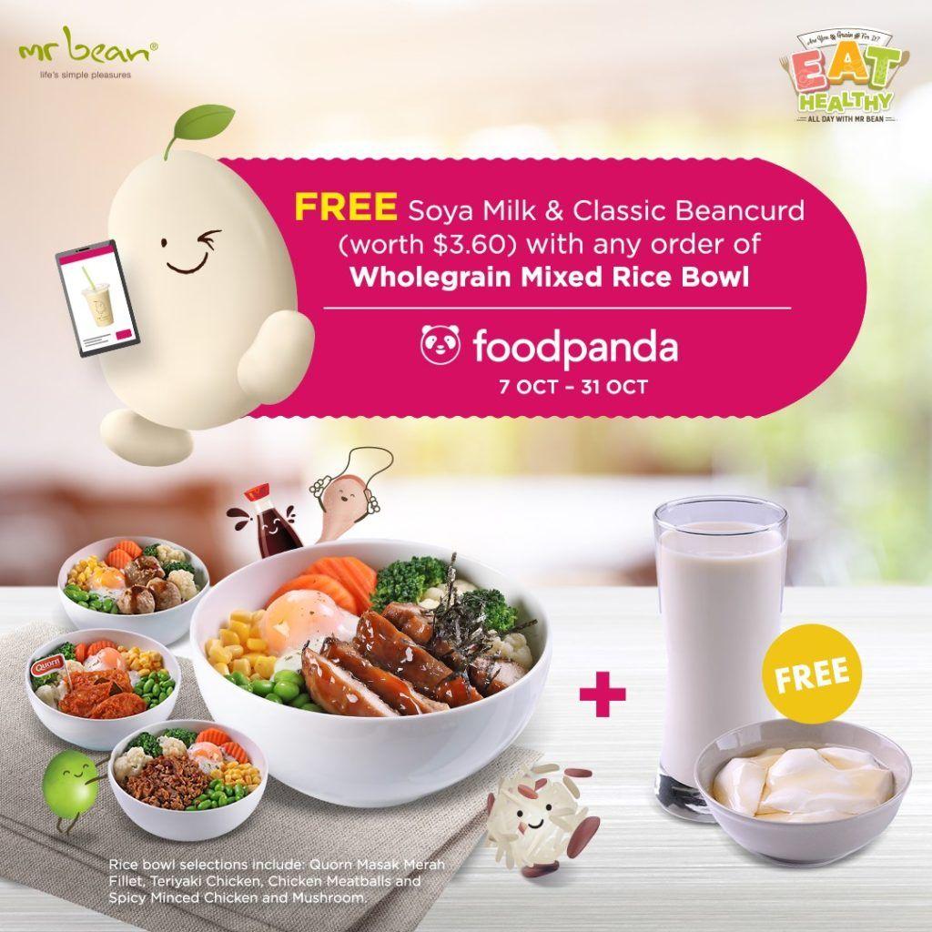 Mr Bean Singapore Free Soya Milk Classic Beancurd Promotion 7 31 Oct 2019 Mr Bean Bean Curd Food Menu