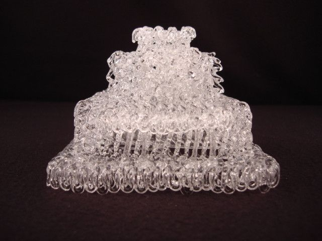 Laie HI Glass LDS Temple Cake Topper We Had A Blown For Our Wedding