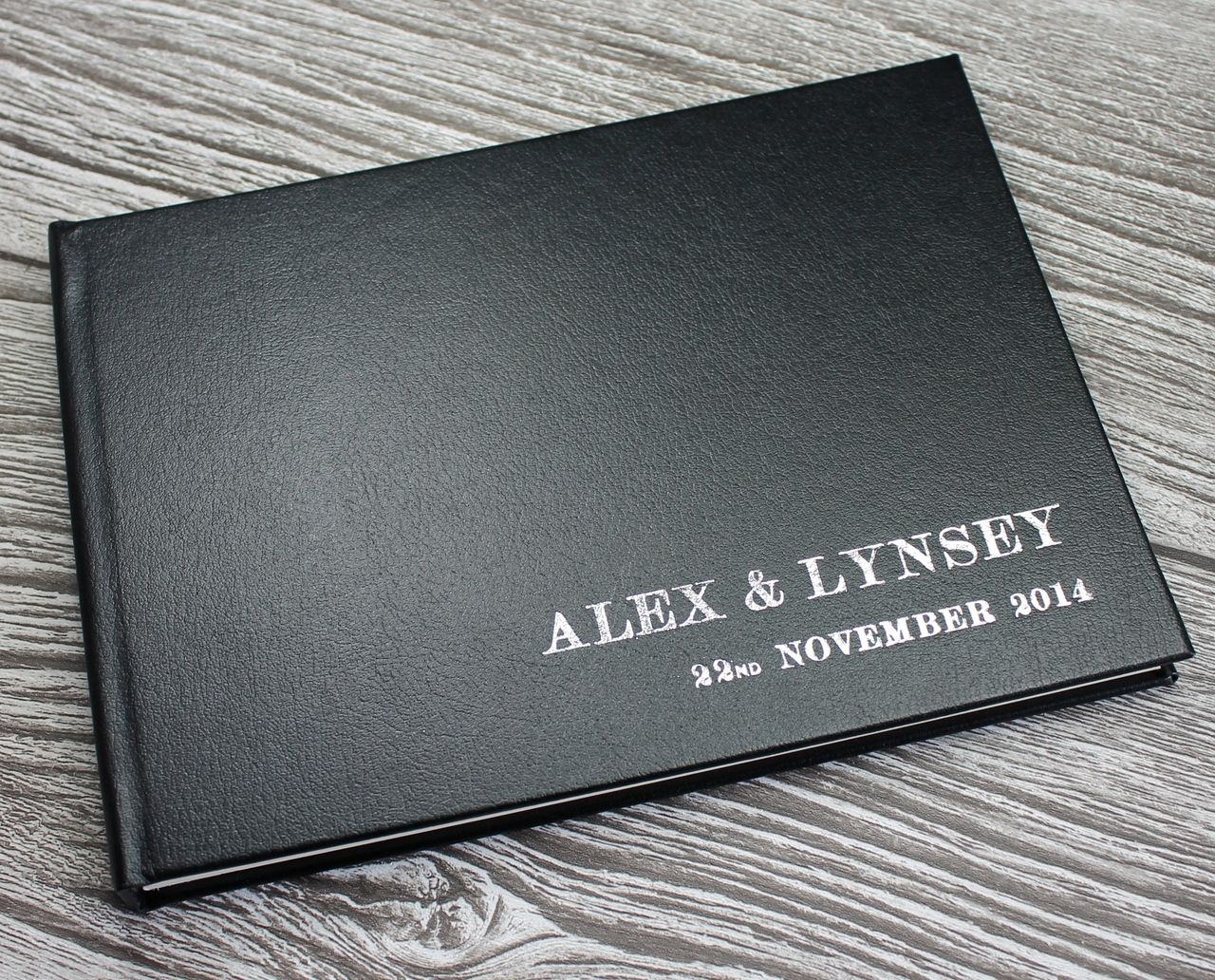 Personalised Luxury Black Leather Wedding Guest Book Fully Bound In This Is A Beautiful Handmade Keepsake