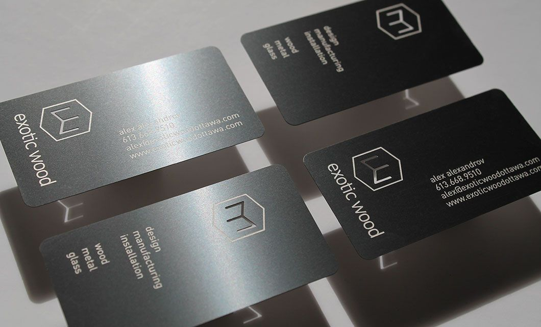 Metal business cards are a method to share contact knowledge and ...