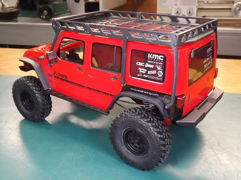 RCDM Roof Rack For The Axial 2017 Jeep Wrangler Unlimited ...