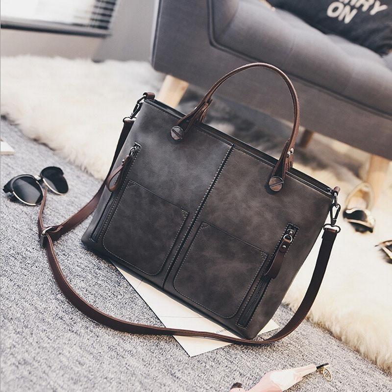 New Brand Women Bag Shoulder Bags Vintage European Pu Leather Handbag Fashion Casual Solid Messenger Lb2577