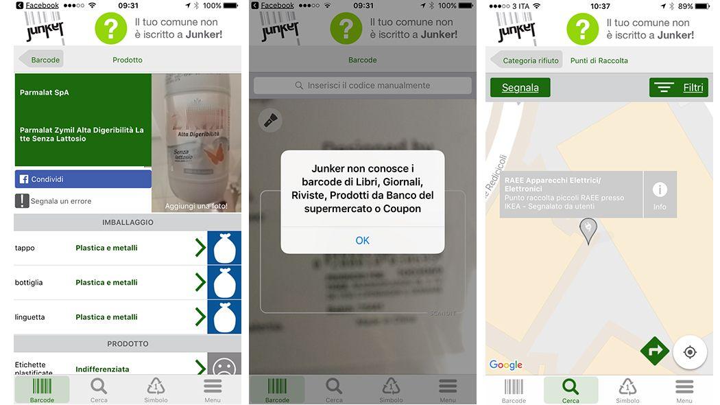 """Junker, l'app che ti aiuta a fare la raccolta differenziata dei rifiuti https://www.sapereweb.it/junker-lapp-che-ti-aiuta-a-fare-la-raccolta-differenziata-dei-rifiuti/        La scusa """"non so in che secchio vada gettata, quindi la butto in uno a caso"""", non vale più:esiste un'app che aiuta a non fare errori nella raccolta differenziata. Si chiama Junker, è gratuita, e sarà l'arbitro ideale per le discussioni domestiche (perché tutti, prima o poi, ne hanno..."""