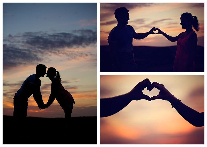 Lucylou Photography pre wedding shoot for Matt and Christina at The Jack and Jill Windmill - West Sussex #love #engagement #sunset #silhouette #couple